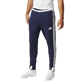 adidas Men's Tiro 15 Training Pants - Black/White/Black, Large