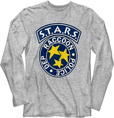 Resident Evil Horror Syfy Film Video Game Stars Adult Long Sleeve T-Shirt Tee