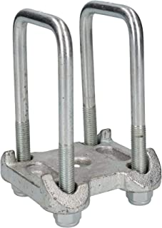 2u-tornillo 2placa base para Ifor Will remolque ballesta parabólica individuale AB Tools