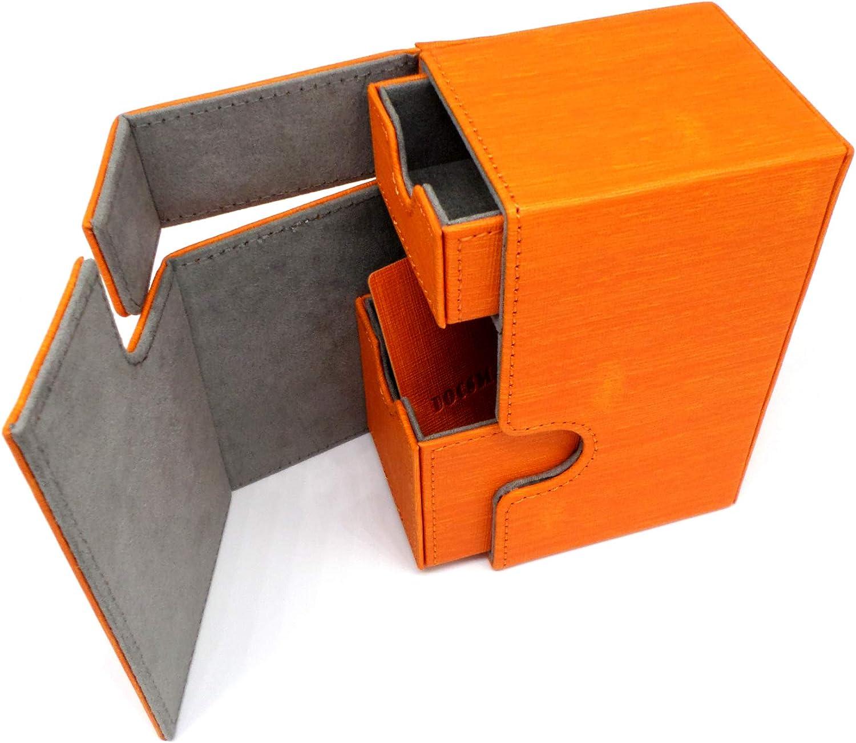 docsmagic.de Premium Magnetic Tray Box (80) Orange + Deck Divider ...
