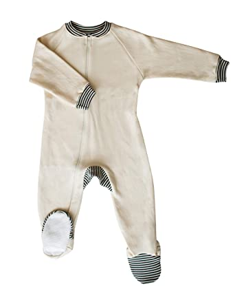 6f8eff4dafb6 Amazon.com  CastleWare Baby- Footie Pajama - Organic Cotton Fleece ...