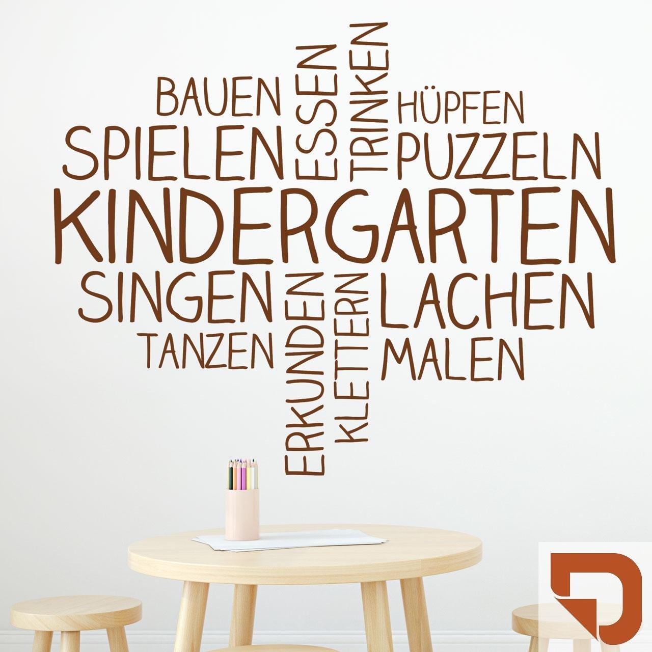 DESIGNSCAPE® Wandtattoo Wortwolke Kindergarten   Kindergarten Wanddekoration 110 x x x 89 cm (Breite x Höhe) sandgrau DW808180-M-F101 B075JGBTS1 Wandtattoos & Wandbilder 8a19fb