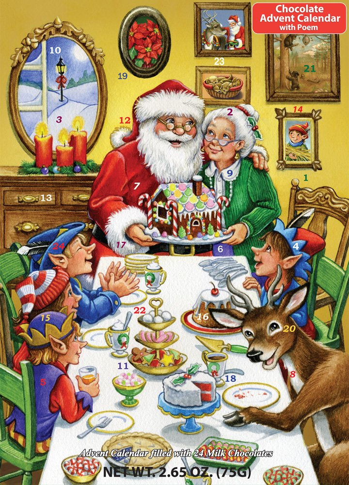 Christmas Feast Chocolate Advent Calendar (Countdown to Christmas) Vermont Christmas Company