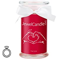 JewelCandle True Love - Bougie parfumée Bijou Surprise en Argent