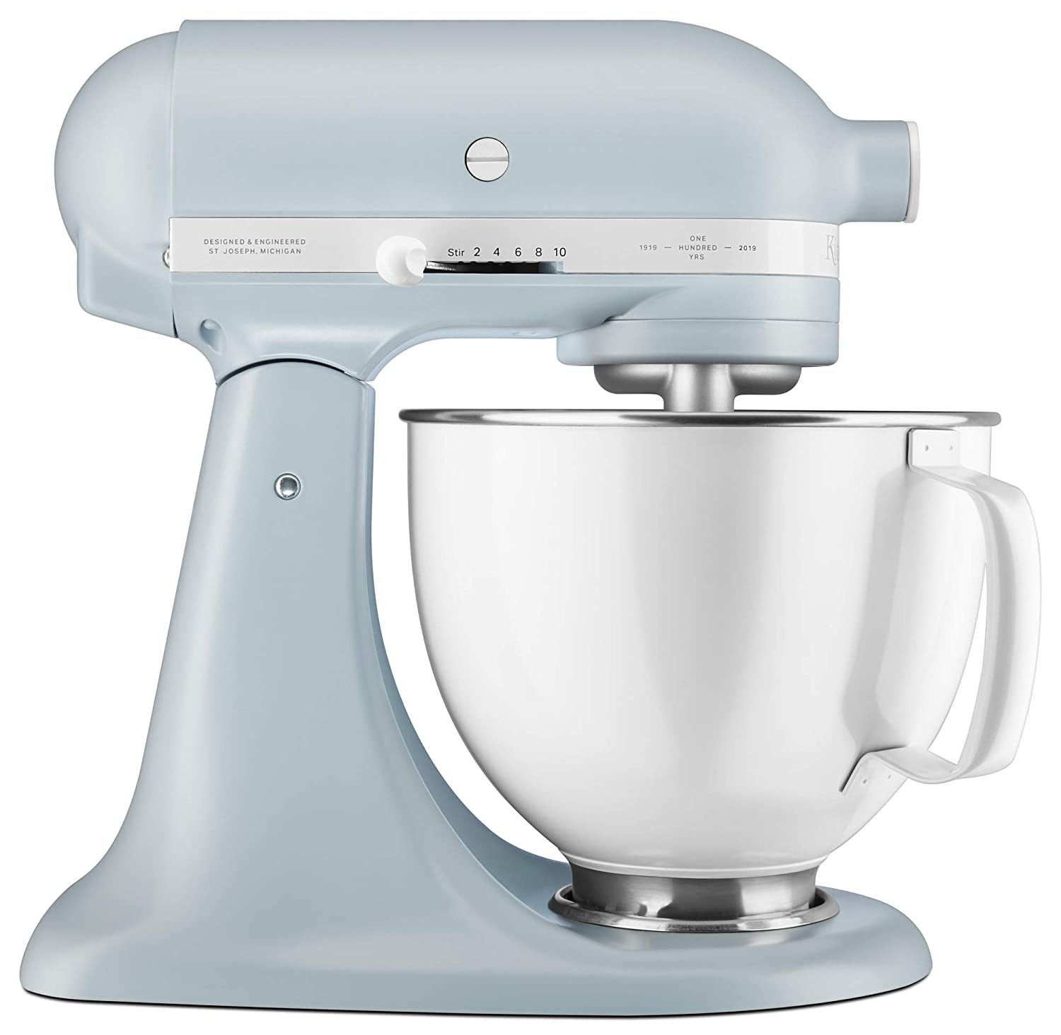 KitchenAid KSM180RPMB 100 Year Stand Mixer, 5 Qt, Misty Blue