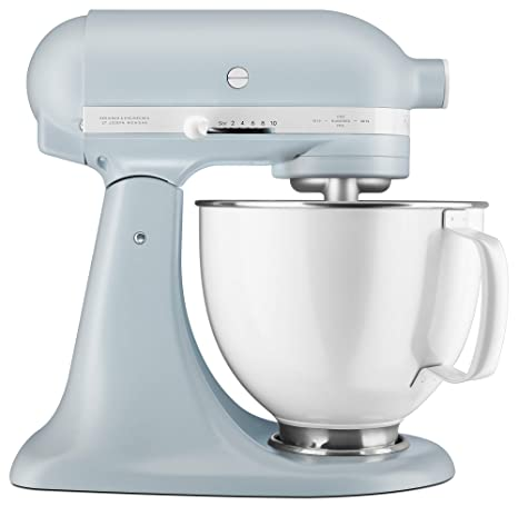 KitchenAid KSM180RPMB 100 Year Mixer Stand, 5 Qt, Misty Blue