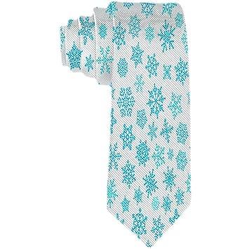 Corbata para hombres Patrón de elementos de copo de nieve Corbata ...