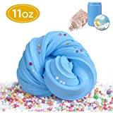 Funplus Fluffy Slime - 11 oz Jumbo Fluffy Floam Slime Stress Relief Sludge Toy Kids Adults Stretchy Soft - Blue