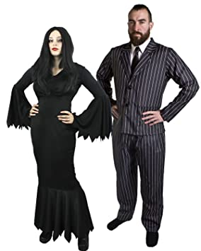 Disfraz Para Pareja De Familia Adams Para Adulto Talla Xs Xxl - Disfraces-familia-adams