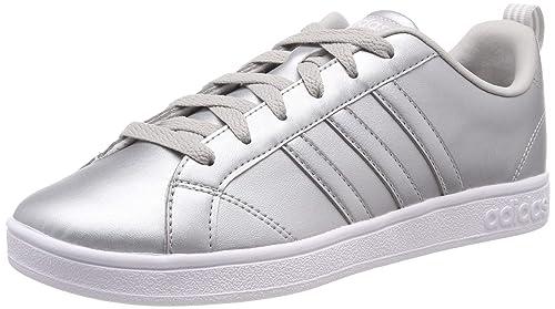 wholesale dealer website for discount outlet online adidas Damen Vs Advantage Tennisschuhe, Silber/schwarz