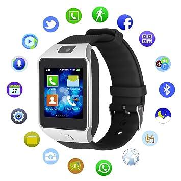 kivors® DZ09 Bluetooth SmartWatch Teléfono Reloj de pulsera reloj teléfono SIM con podómetro anti-
