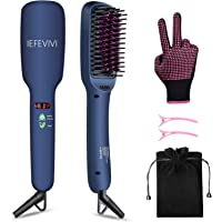 Iefevivi Anti-Scald Feature Lonic-2-in-1 Straightening Brush