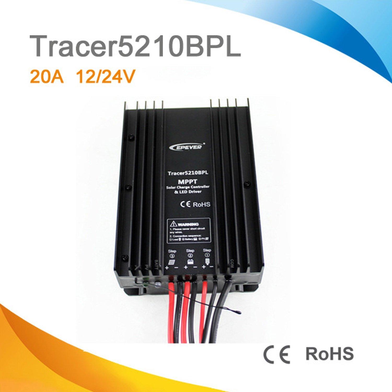 ソーラーコントローラー MPPTソーラー充電コントローラ、タイマー、LEDドライバプログラム付きアプリTracer2606BPL Tracer2610BPL Tracer3906BPL Tracer3910BPL Tracer5206BPL Tracer5210BPL アクセサリー (Style : Tracer5210BPL) B07PZT5GZV