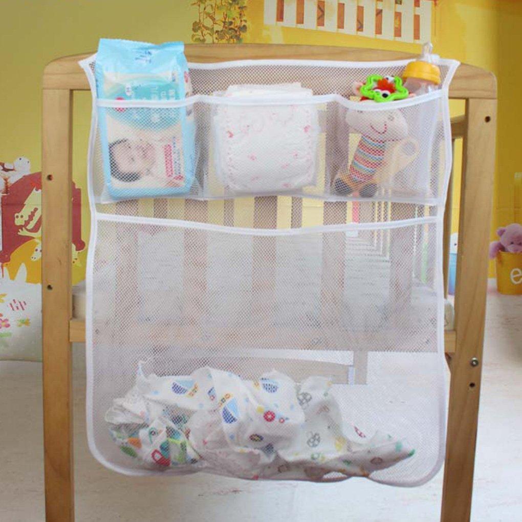 GankmachineCuna Bolsa de Malla reci/én Nacido de Noche Bolsa de pa/ñales para beb/és Parachoques Organizador Bolsa de Ropa del ni/ño de contenedores #4