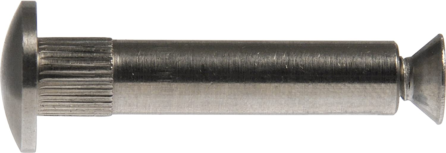 Stainless Steel 6-Pack The Hillman Group 44789 Architectural Binding Post 3//8-Inch x 2-1//16-Inch