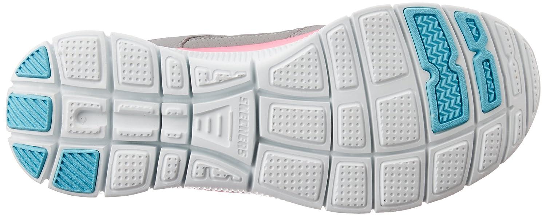 SKECHERS Flex Appeal Adaptable Sneakers Leder Schnürung grau