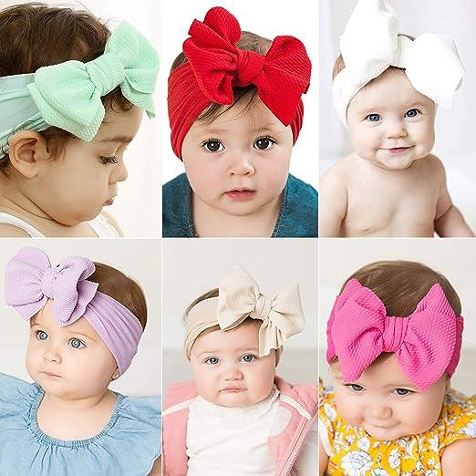 Baby Mädchen Turban Solide Stirnband Haarschleife Zubehör Kopfbedeckung Zar I3R1