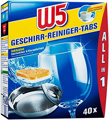W5 Spülmaschinentabs All-in-One - 40 Pack: Amazon.de: Drogerie &  Körperpflege