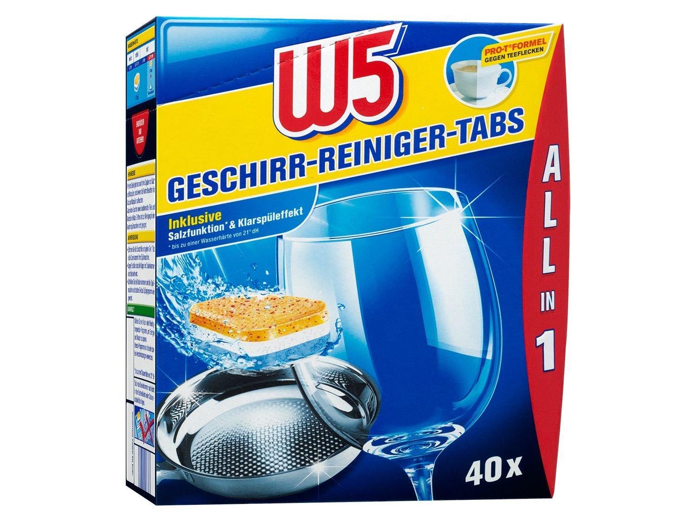W5 Vajilla limpiador de Tabs 40 Pack - All-in-One: Amazon.es ...