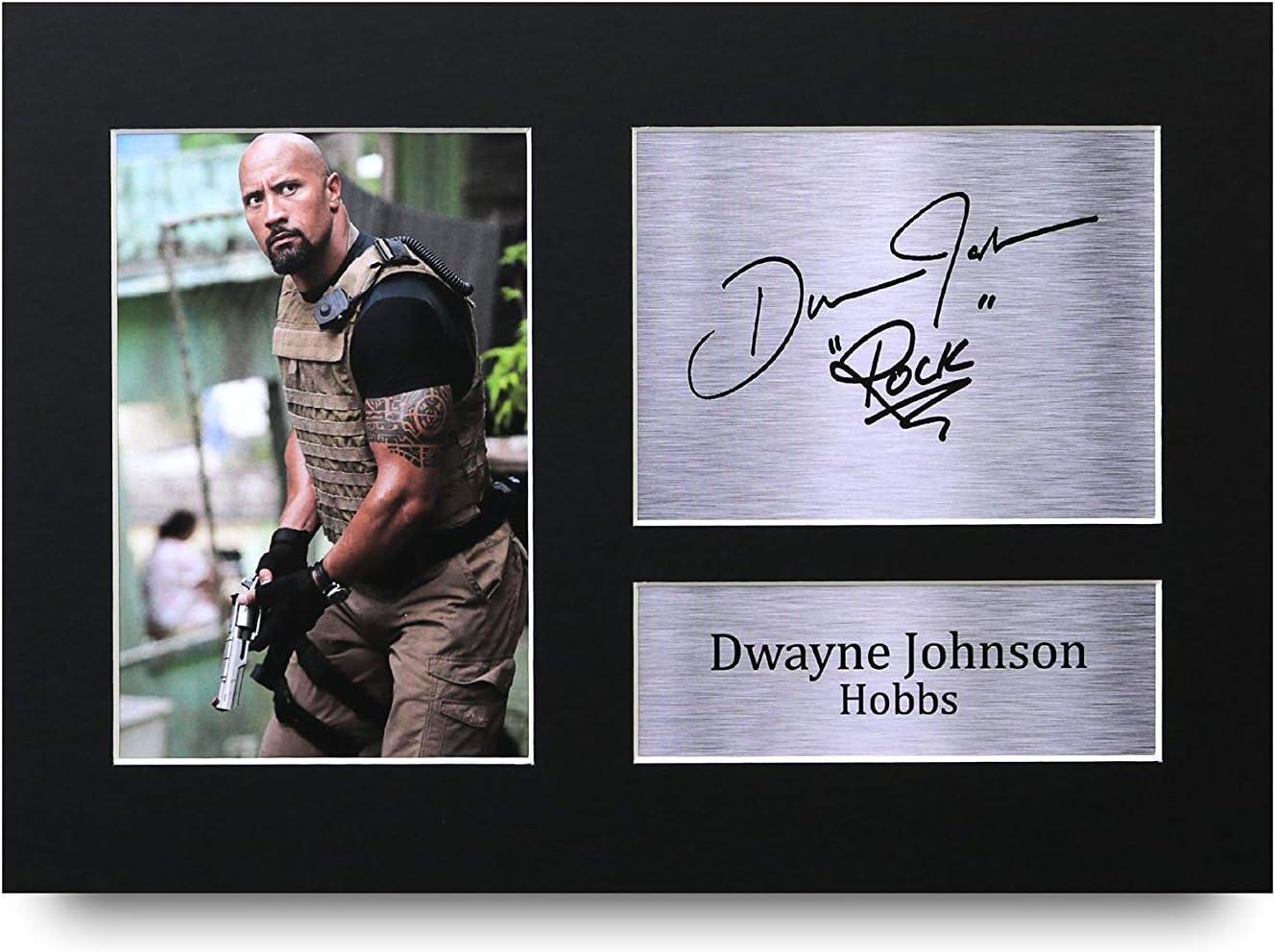 HWC Trading Dwayne Johnson A4 Ungerahmt Signiert Gedruckt Autogramme Bild Druck-Fotoanzeige Geschenk F/ür Hobbs Fast /& Furious Filmfans