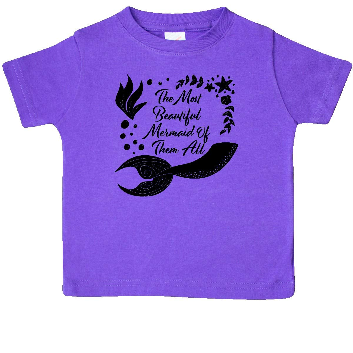 inktastic The Most Beautiful Mermaid of Them All with Mermaid Tail Baby T-Shirt