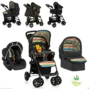 63e159376 New Hauck Disney Winnie The Pooh TidyTime 3in1 Trio Shopper Pushchair Buggy  Pram+Carrycot+Car seat Set, 1-2 Working Days Delivery to Mainland UK: ...