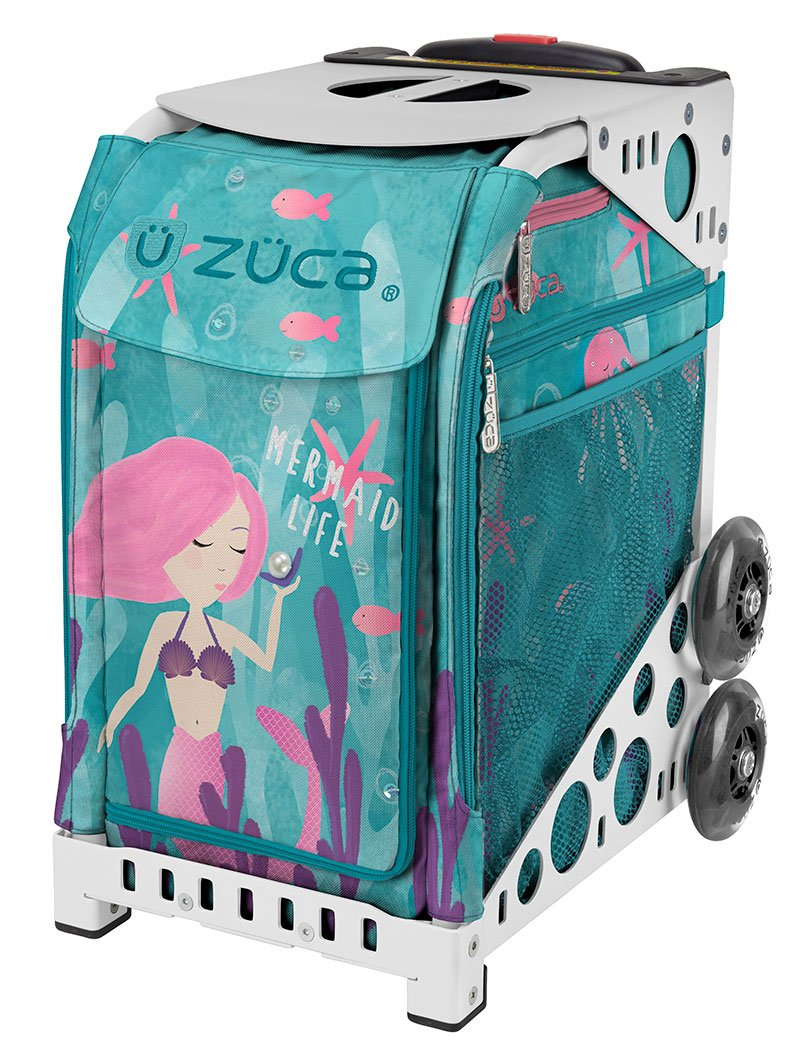 ZÜCA Sport Mermaid Life Limited Edition Rolling Bag with White Frame