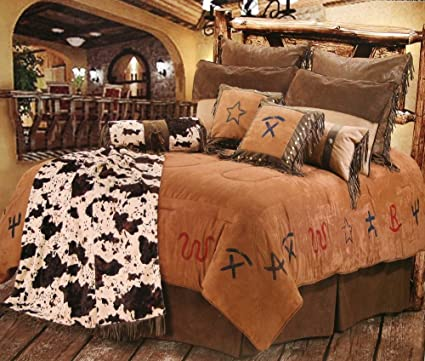 cowboy branded western bedding set queen - Western Bedding