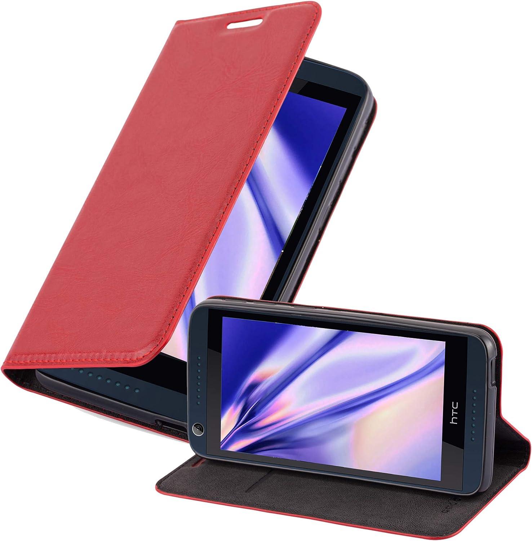 Case Cover Schutzh/ülle Etui Tasche Book Klapp Style Handyh/ülle mit Magnetverschluss H/ülle in Nacht SCHWARZ Standfunktion und Kartenfach Cadorabo H/ülle f/ür HTC Desire 626G