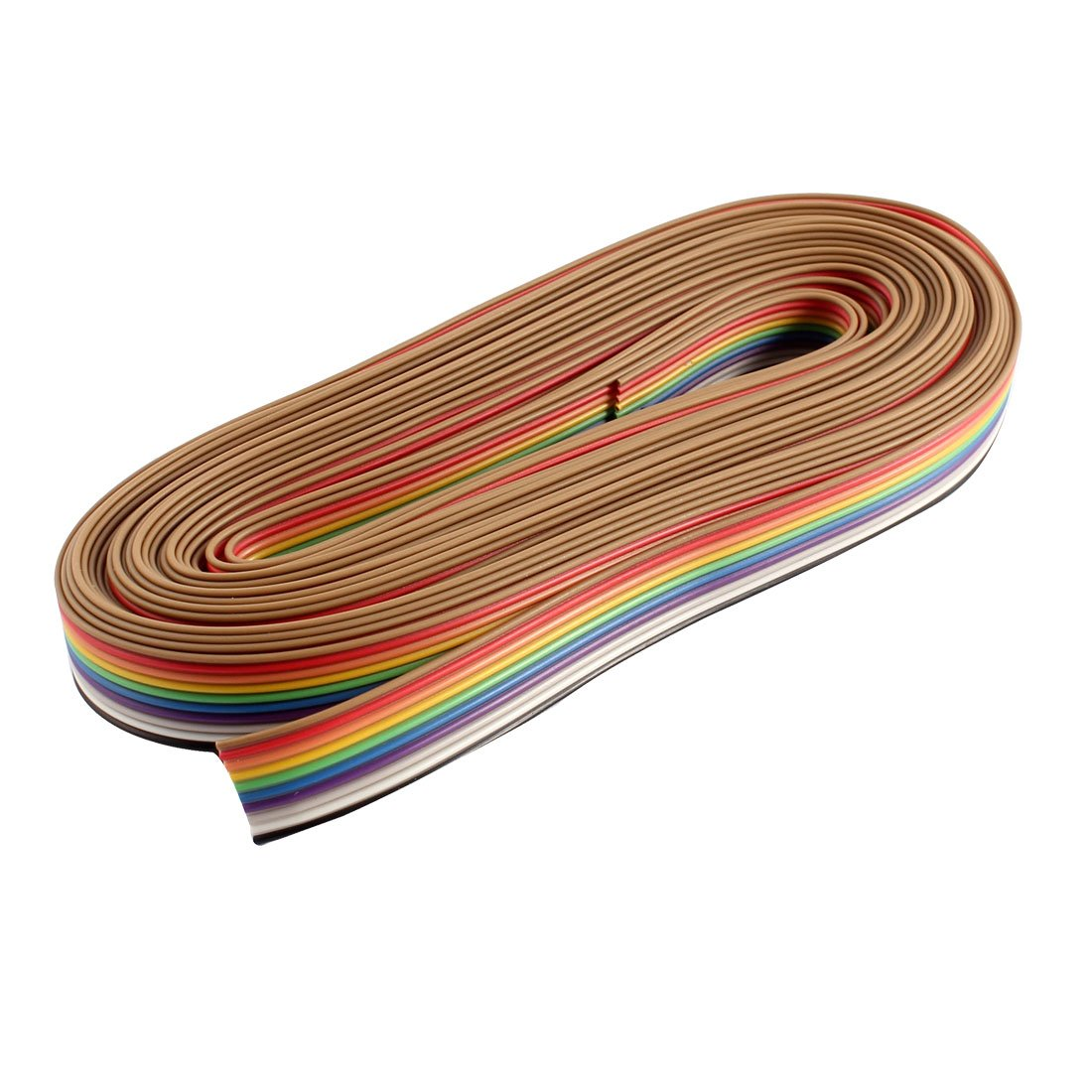 6M 10 Faç on 10 broche Rainbow Couleur Plat Ruban Cable IDC Câ ble 1.27mm DIY sourcing map a14102200ux0329