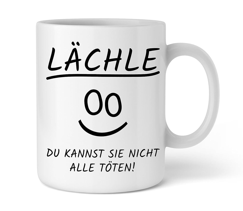 Lustige Kaffe-Tasse | Lächle du kannst sie nicht alle töten | Schöne Kaffee-Tasse von Shirtinator® Print Equipment 45771634s17