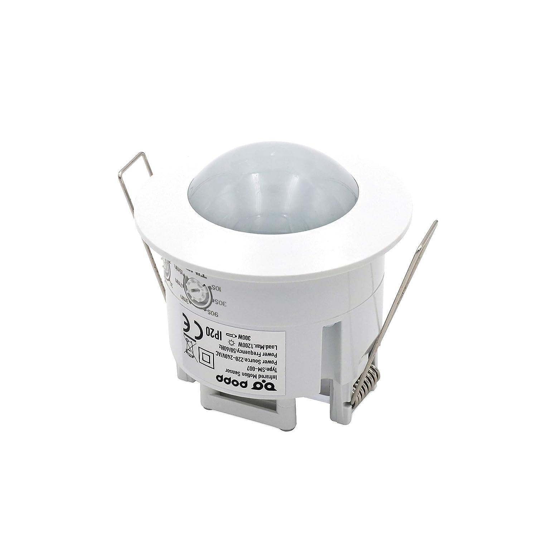 Popp- detector sensor de movimiento de techo empotrable 360º(SM-007)