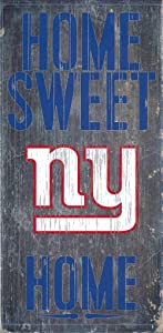 Hall of Fame Memorabilia New York Giants Wood Sign - Home Sweet Home 6''x12''