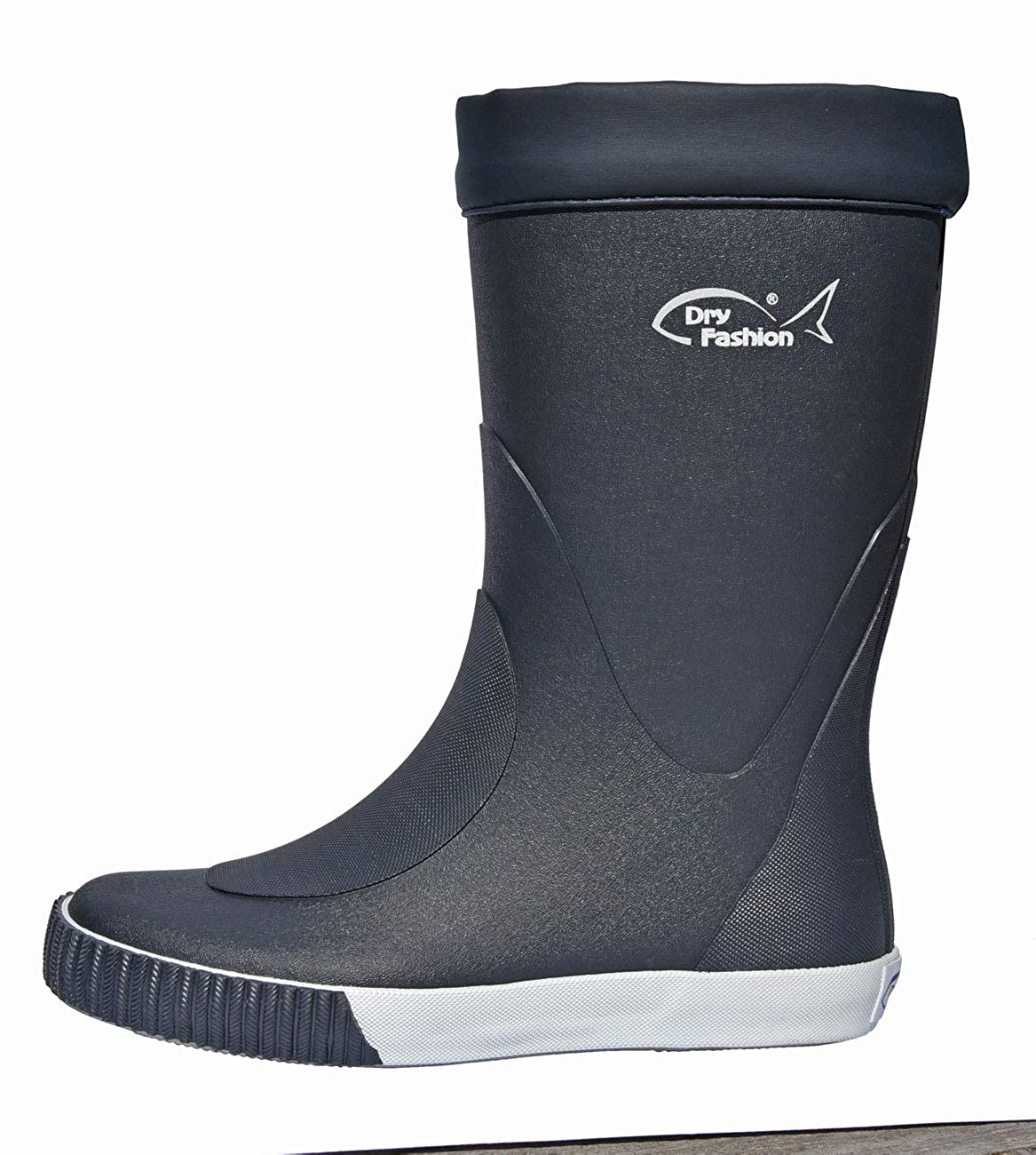 Dry Fashion Damen Herren Bootsstiefel Skipper Gummistiefel Regenstiefel Halbschaft