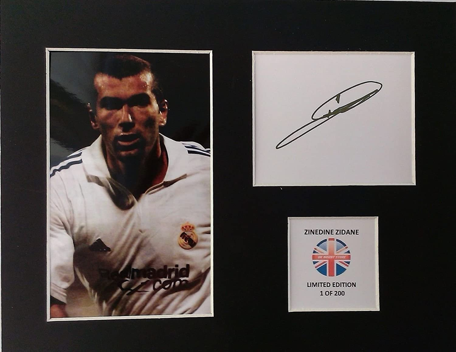 Amazon.de: ZINEDINE ZIDANE, LIMITED EDITION, SIGNIERT, DISPLAY ...