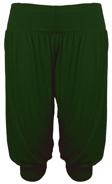 bf6333e4d83b93 Purple Hanger - Damen Ali Baba Harems Hose Stretch Weite Hosen Kurz Shorts  Übergrößen Purple Hanger Curvy