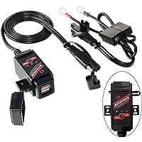 MOTOPOWER 3.1Amp Motorfiets Dual USB oplader SAE naar USB-adapter batterij monitor met schakelaar