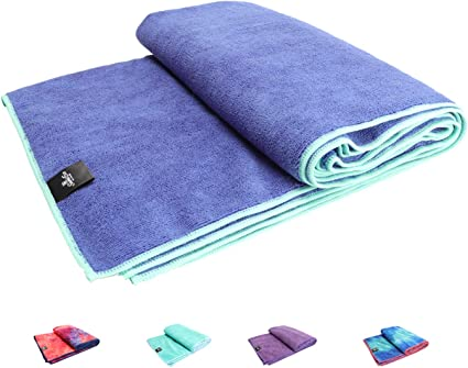 SUMI ECO ECO-FRIENDLY The Perfect Yoga Mats Towel - Super Soft, Sweat Absorbent, Multicolored Wicking, Non-Slip Bikram Hot Yoga Rug for Pilates Lovers