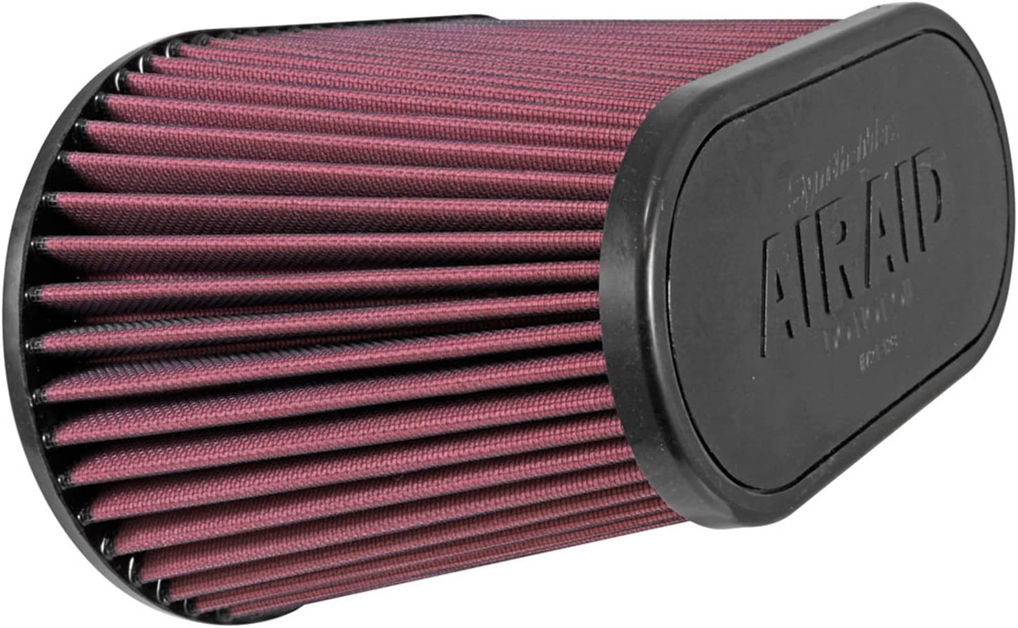 Airaid (AIR-720-128) Universal Clamp-On Air Filter: Oval Tapered; 4.5 Inch (114 mm) Flange ID; 7.375 Inch (187 mm) Height; 11.5 Inch x 7 Inch (292 mm x 178 mm) Base; 9 Inch x 4.5 Inch (229 mm x114 mm) Top