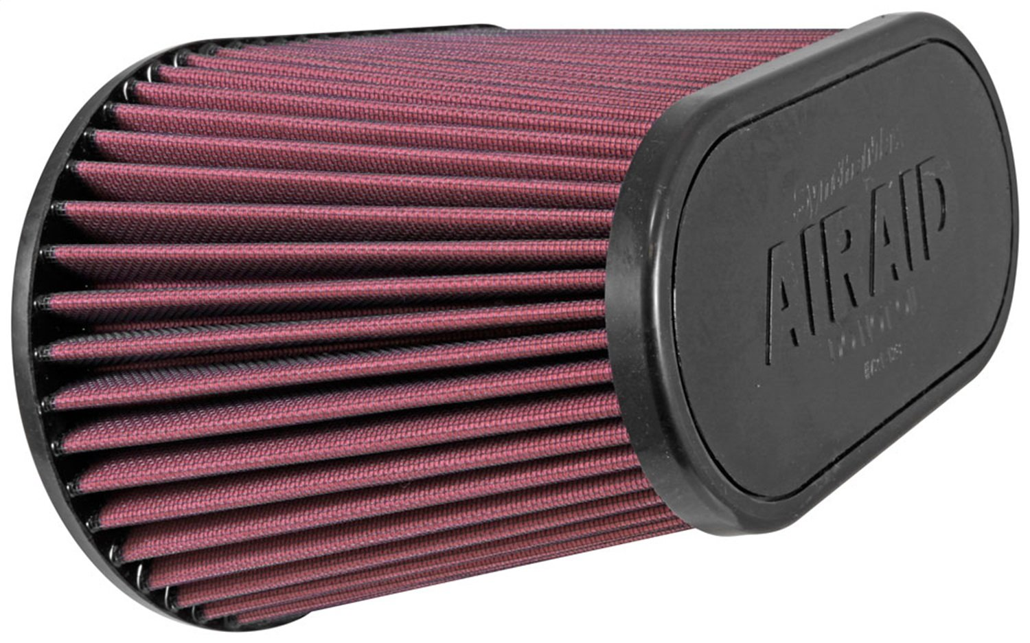 Airaid (AIR-720-128) Universal Clamp-On Air Filter: Oval Tapered; 4.5 in (114 mm) Flange ID; 7.375 in (187 mm) Height; 11.5 in x 7 in (292 mm x 178 mm) Base; 9 in x 4.5 in (229 mm x114 mm) Top by Airaid