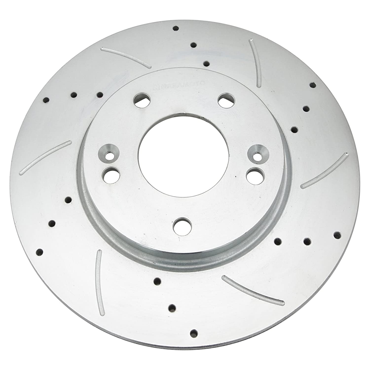 Performance Brake Rotor Drilled /& Slotted Coated Front Pair for Hyundai