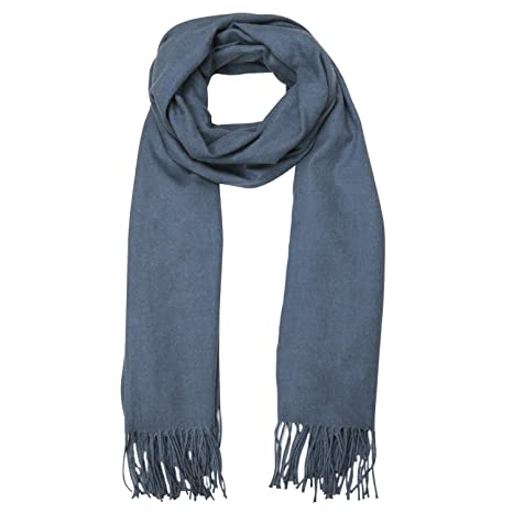 fac38f31274 SOJOS Womens Large Soft Cashmere Feel Pashmina Shawls Wraps Winter Scarf  SC304 with Denim Blue