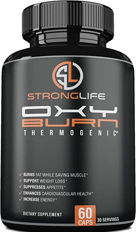 Stronglife Made in USA Fat Burner Capsules - Weight Loss Supplement with Raspberry Ketone: Keto Diet Essential, Yohimbe Bark,- Natrual Energy Booster, Enhance Muscle Strength, Focus Support - Non-GMO
