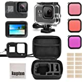 Kupton Accessories Kit for GoPro Hero 8 Black Bundle Includes Waterproof Housing + Tempered Glass Screen Protector + Carrying Case + Sleeve Case + Snorkel Filters + Anti-Fog Inserts for Go Pro Hero8