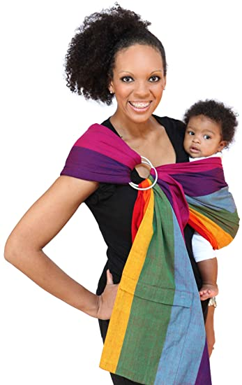 64e6e5a51bf Amazon.com  Maya Wrap Lightly Padded Ring Sling Baby Carrier - Dorothy -  Medium  Baby