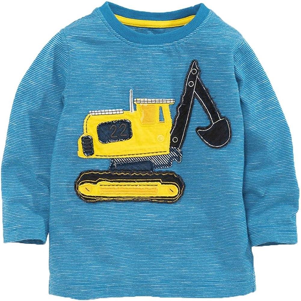 Inda-Bayi Baby-Toddler-Kids Cotton Long Sleeve T Shirt Digger