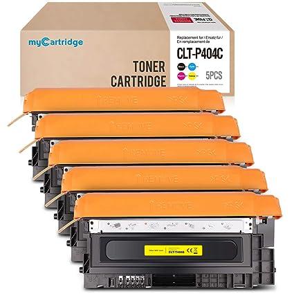 Mycartridge 5 - Tóner Compatible con Samsung CLT-P404C / ELS para ...