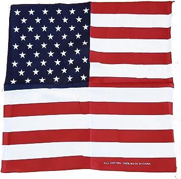 Bandana Bandera de Estados Unidos - Estrellas y Rayas / Poliester / 57 x 57 Centímetros / Día de la Independencia American Souvenir: Amazon.es: Coche y moto