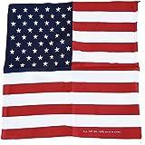 "USA Flag Bandanna It's Independence Day 2017! USA Stars & Stripes Bandana! 22.5"" x 22.5"" ca. 57cm x 57 cm Bandana! / Bandana! / Pañuelo! Polyester for Celebrating American Heritage! Patrimoine! / Erbe! / Eredità! / Patrimonio!"