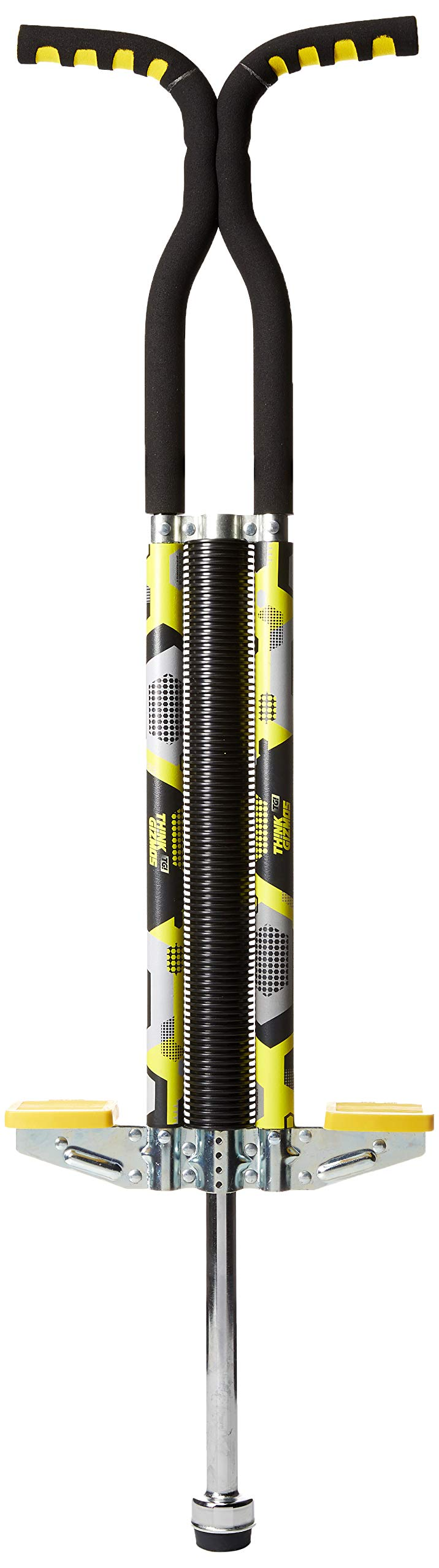 Think Gizmos Pogo Stick for Riders 80lbs to 160lbs - Pogo Stick for Boys & Girls (& Light Adults) - Quality Solid Construction (Yellow) by Think Gizmos
